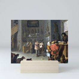 Cornelis Saftleven Satire on Litigious Farmers Mini Art Print