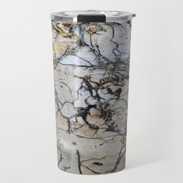 Natural Distressed Beach Drift Wood Textures Travel Mug