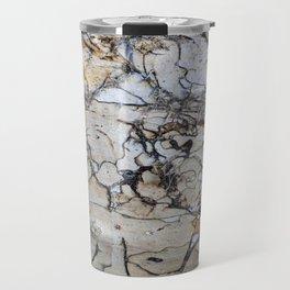 Natural Distressed Beach Drift Wood Textures Travel Mug