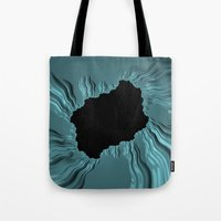 infamous Tote Bags featuring infamous black hole, FRACTALS by ACKelly