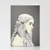 daenerys targaryen Stationery Cards featuring D T by CranioDsgn