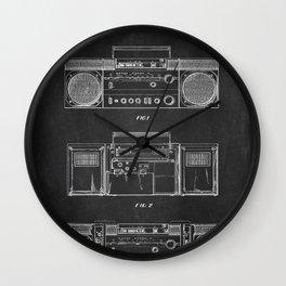 Boombox chalkboard Wall Clock