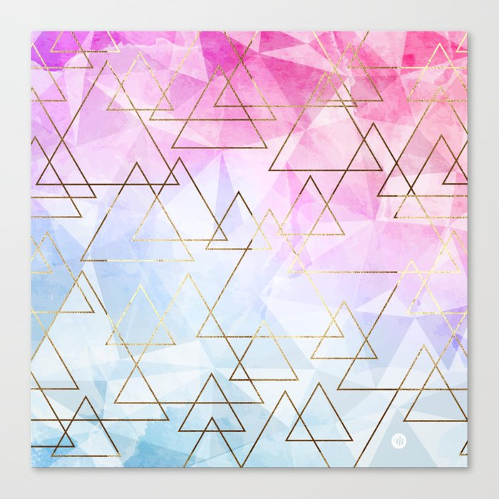 Collage geometric Canvas Print