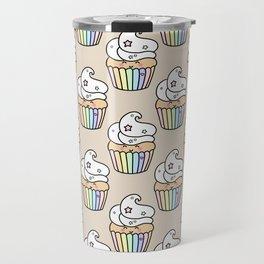 Cute Rainbow Muffin Travel Mug