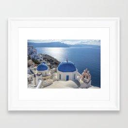 Santorini island in Greece Framed Art Print
