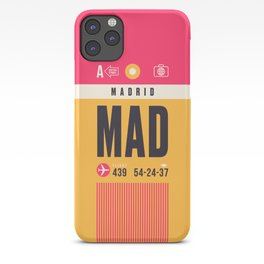 Baggage Tag A - MAD Madrid Barajas Spain iPhone Case