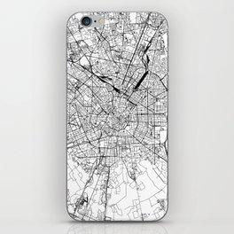 Milan White Map iPhone Skin