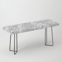 Cleveland White Map Bench