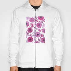 small pink flowers Hoody