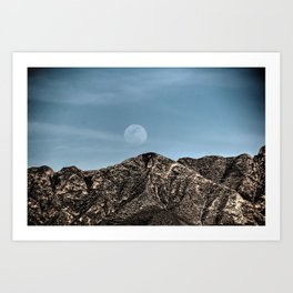 Moon over the Franklin Mountains Art Print