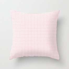 Small Blush Pink Valentine Pale Pink and White Buffalo Check Plaid Throw Pillow