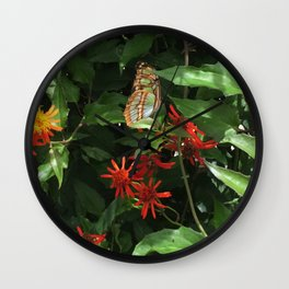 Fort Fisher Butterfly Wall Clock