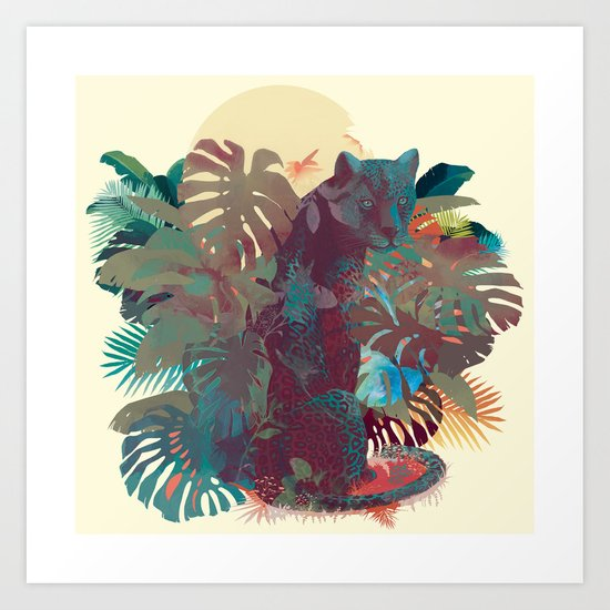 Panther Square Art Print