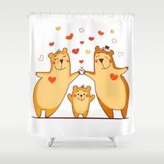 Family of bears Shower Curtain