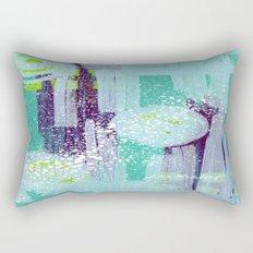 Teal Background Rectangular Pillow