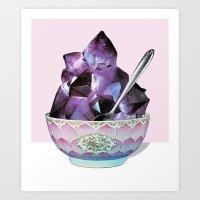 dessert Art Prints featuring DESSERT by Beth Hoeckel