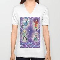 dmmd V-neck T-shirts featuring Dramatical Murder DMMD by SpigaRose