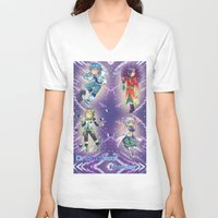 dramatical murder V-neck T-shirts featuring Dramatical Murder DMMD by SpigaRose