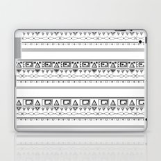 Black with gray and white pattern . Laptop & iPad Skin