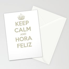 Keep quiet and Hora Feliz Stationery Cards