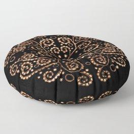 Mandala henna black Floor Pillow