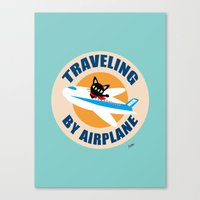 airplane Canvas Prints featuring Airplane by BATKEI