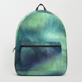 Abstract Blue Green Orchid Painting Backpack