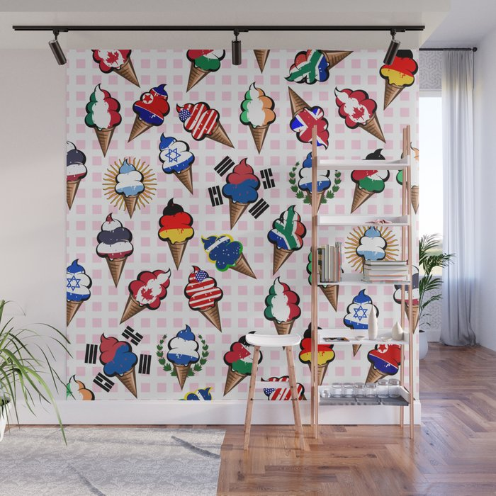 Ice cream flags Wall Mural
