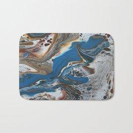 Blue swirl Bath Mat