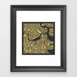 BOSTON MAP Framed Art Print