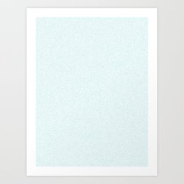 Melange - White and Light Cyan Art Print