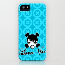 POISON KISS CYAN iPhone Case