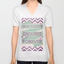 God's Love Endures Forever Unisex V-Neck