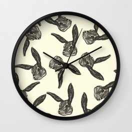Pattern rabbit Wall Clock