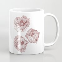 poppies Mugs featuring Poppies by Annike