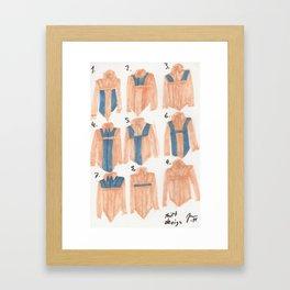 Shirt Design Framed Art Print