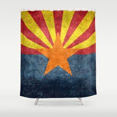 Arizona state flag - vintage retro style Shower Curtain