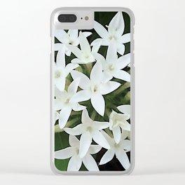 White Verbena Clear iPhone Case