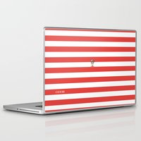 waldo Laptop & iPad Skins featuring Dude.. I'm right here by Adel
