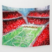 ohio Wall Tapestries featuring Ohio State Buckeyes by Emily Kenney