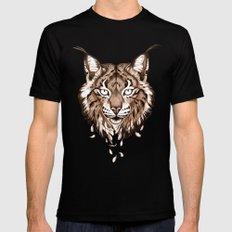 Iberian Lynx: Drifting MEDIUM Black Mens Fitted Tee