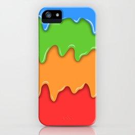 Bright color melt iPhone Case