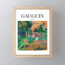 Gauguin - Matamoe Framed Mini Art Print