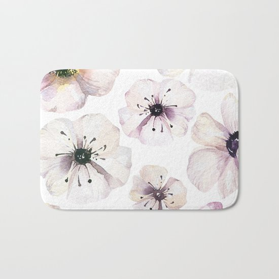 Moon flowers Bath Mat
