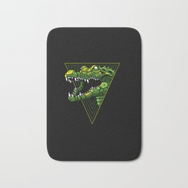 Cyber Crocodile Punk Bath Mat
