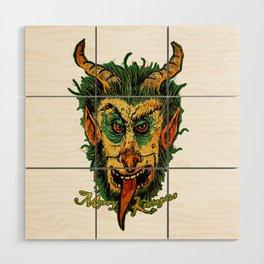Merry Krampus Wood Wall Art