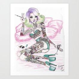 De-lux Life Art Print