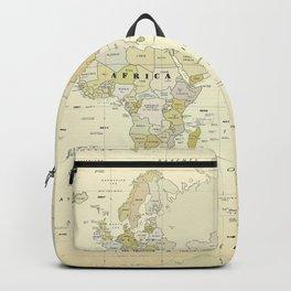 Vintage World Map Print Backpack