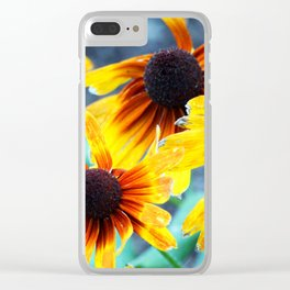 Sunflower Flame Clear iPhone Case