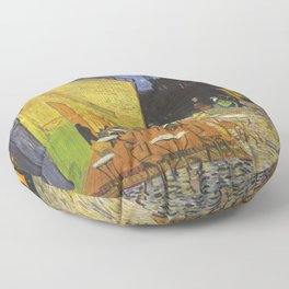 CAFE TERRACE AT NIGHT - VINCENT VAN GOGH Floor Pillow